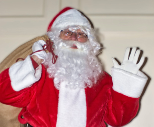 The children of the Garston group welcome Santa
