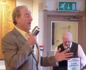 Alan Birchall (left) and Derek Harrison entertain.
