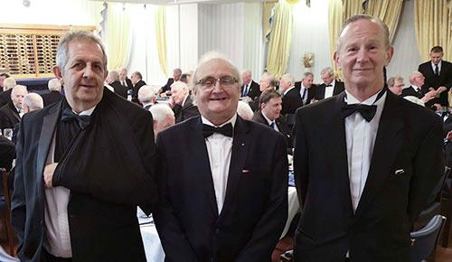 The jewels in the crown who delivered the working tools, from left to right, are: Martin Bleeker, Malcolm Davis and Nick Osbourne.
