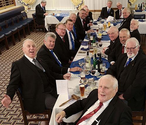 Members of the lodge and their guests enjoying the festive board.
