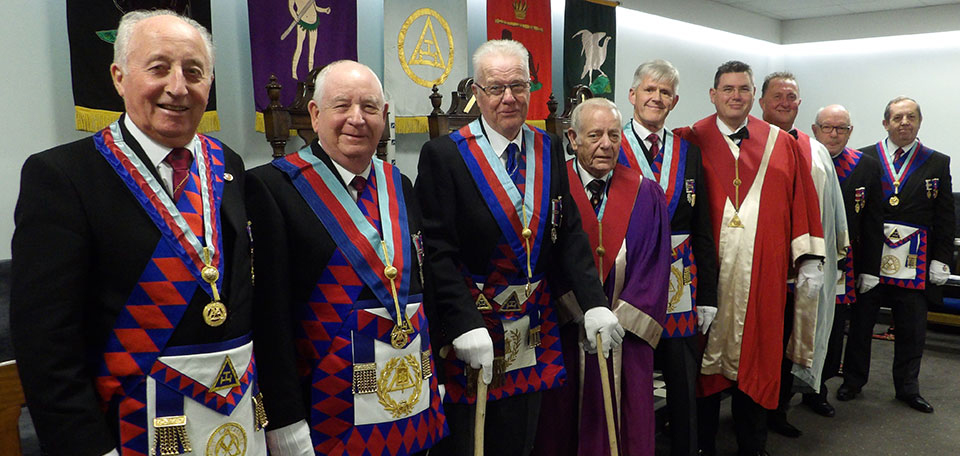 Pictured from left to right, are: David Cook, Harry Cox, Geoff Pritchard, Tom Houldsworth, Ian Ward, Jim Finnegan, Brian Burgess-Dicks, Phil Houldsworth and John Turpin.