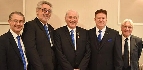 Pictured from left to right, are; David Ozanne, Ron Hiseman, David Baker, Peter Schofield and Owen Osmotherley.