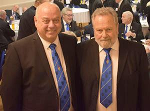 Paul Rose MBE (left) with treasurer Peter Dismore MBE.