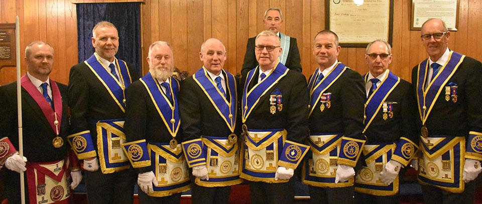 Pictured from left to right, are; Steve McKellar, Barry Fitzgerald, Les Newlands, Barrie Bray, Phil Preston, Garry Norris, Reg Wilkinson and Graham Dowling with David Wilson stood behind.