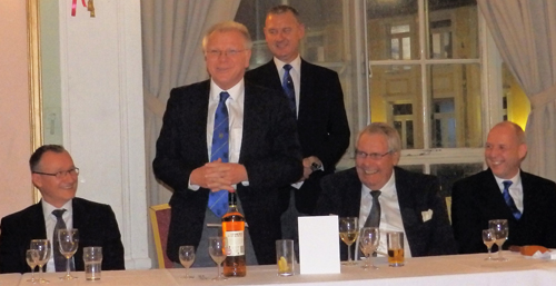 Pictured from left to right, are: Ian Sanderson, Derek Parkinson, Ian Halsall, Derek Johnston and Mike Fox.