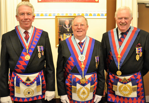 Pictured from left to right, are: Mark Matthews, Colin Rowling and John Roberts.