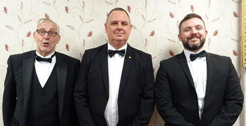 The working tools 'dream team': Jonathan Davies (left), Mark Spragg and David Hodge (right).