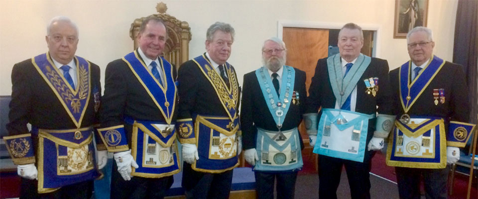 Pictured from left to right, are: Malcolm Alexander, Graham Chambers, Ian Gee, John Rogers, Anthony Prior and Rick Walker.