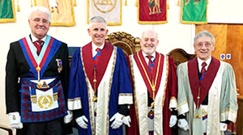 Pictured from left to right, are: Malcolm Warren, Peter Hoyles, Ian Tupling and Malcolm Sandywell.