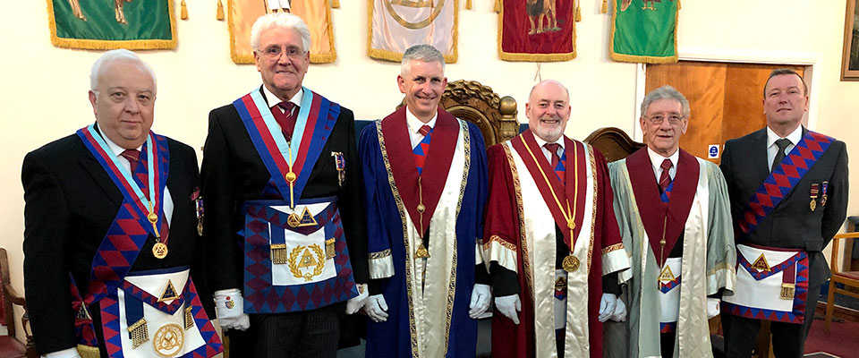 Pictured from left to right, are: Malcolm Alexander, Malcolm Warren, Peter Hoyles, Ian Tupling, Malcolm Sandywell and Mike Sheron