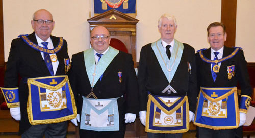 Pictured from left to right, are: Philip Gunning, Graham Greenall, Norman Pritchard and Kevin Poynton before the ceremony.