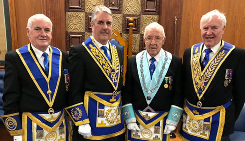 Pictured from left to right, are: Patrick Walsh, Andrew Barton, Alan Roberts and John Hutton.
