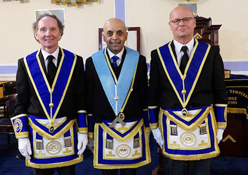 Pictured from left to right, are: Martin Haines, Umesh Dholakia and John Haines.
