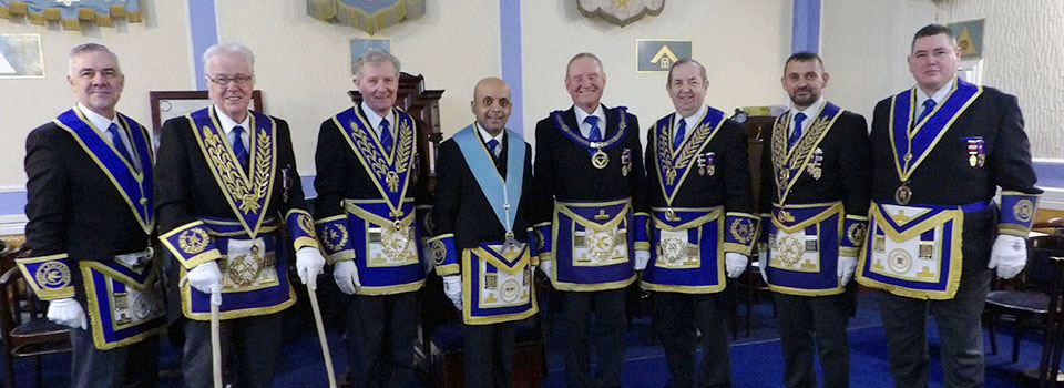 Pictured from left to right, are: Steve Jelly, Geoffrey Pritchard, Stuart Thornber, Umesh Dholakia, David Walmsley, John Turpin, David Thomas and Jim Finnegan.