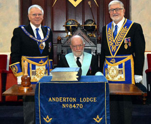 Stephen Howarth is the new WM of Anderton Lodge