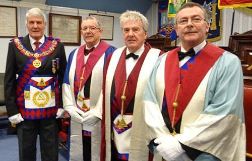 Pictured from left to right, are: Paul Renton, Steve Willingham, Derek Broadbent, Gordon Major.