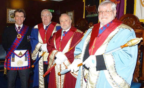Pictured from left to right, are: Mike Threlfall, Rev Stephen Leach, Frank Kennedy and Brian Crawford.