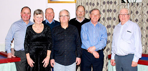 Pictured from left to right, are: Graham Chambers, Cath Traynor, Don Fraser, Mark Sands, Roger Holt, Peter Kelly and Ray Barrow.