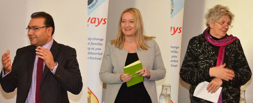 Responses from recipients, are: Left picture: Faisal Rashid. Centre: Kate Davies. Right: Vanessa Storey.