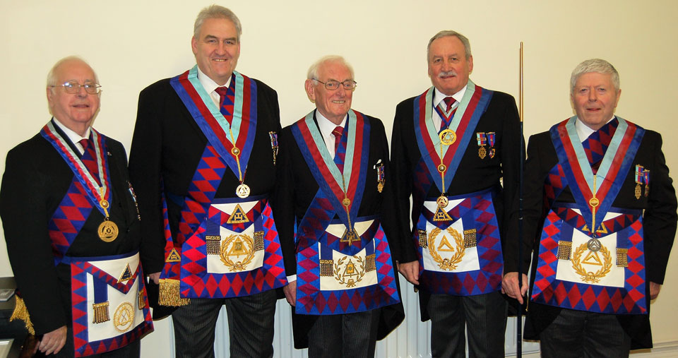 Pictured left to right, are: David Spear, Andrew Whittle, Peter Williams, Sam Robinson and Arthur Cregeen.