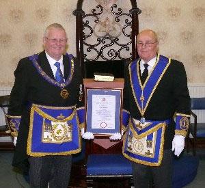 Stewart Seddon (left) and Peter Dawson.