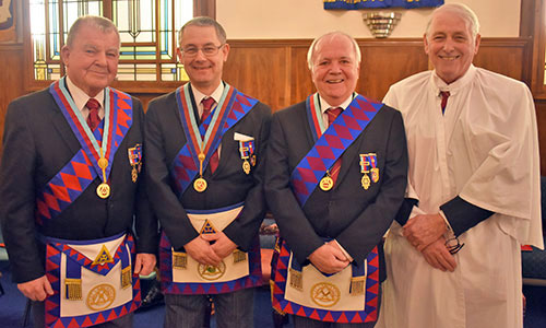 Pictured from left to right, are; Keith Templeton, David Ozanne, Kieron Mullan and David Baker.