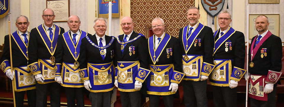 Pictured from left to right, are; Reg Wilkinson, Graham Dowling, Barrie Bray, Derek Parkinson, David Grainger, Keith Kemp, Barry Fitzgerald, Phil Preston and Steve McKellar.