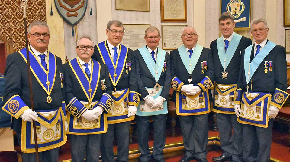 Pictured from left to right, are; Mike Jenkins, Tony Cassells, Robert Durkin, Mort Richardson, Harry Chatfield, Terry Pearson and treasurer Tony Nevinson.