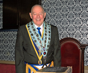 Hughie continues in the chair of St David's Lodge