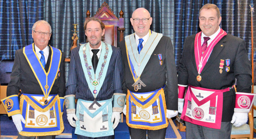 Pictured from left to right, are: Peter Pemberton, Clifton Carefoot, Andrew Thiele and Scott Devine.