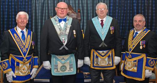 Pictured from left to right, are: Jim Wilson, Colin Richmond, Bill Williamson and Chris Butterfield.