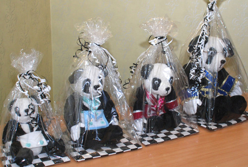 The 'Bear Necessities': the prize draw won by Harry Clapp.