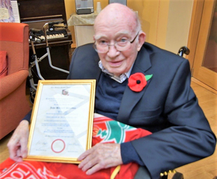 80 years membership for Bernard Sheridan