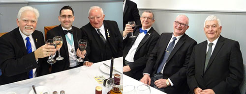 Picture left: David Randerson(left), Glen Brooks (centre) and George Brooks. Picture right: Steve Willingham (left), Damon Tait (centre) and Ian Glass.