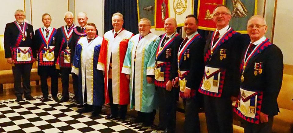 Pictured, from left to right, are: Dave Barr, Steven Reid, Raymond Firth, Barry Jameson, John Conroy, Steven Carr, Derek Lewthwaite, Duncan Smith, Neil MacSymons, John-Robbie Porter and Jim Hardman.