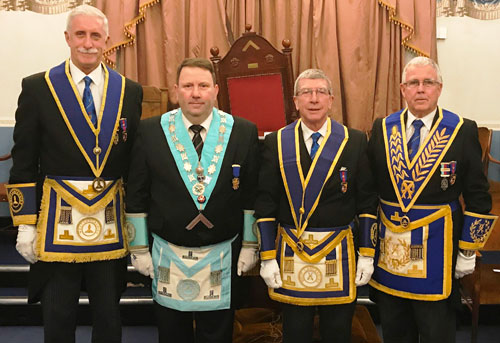 Pictured from left to right, are: John Karran, Gary Jones, Roy Hart and Geoffrey Porter.
