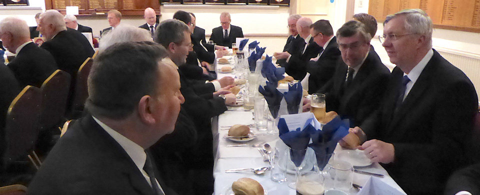 Diners at the festive board.