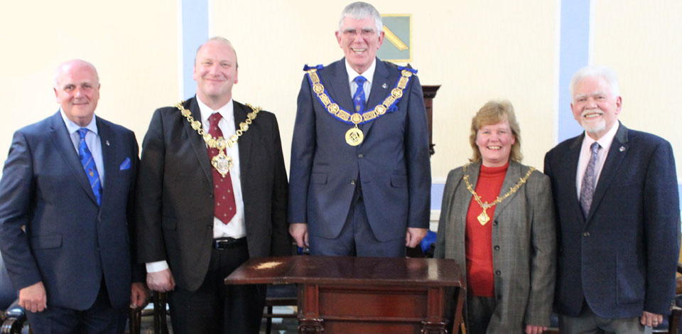 Pictured from left to right, are: David Winder, the Worshipful the Mayor of Blackpool, Councillor Gary Coleman, Tony Harrison, Mayoress Councillor Debbie Coleman and David Randerson.