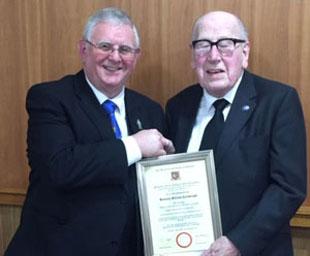 Ken celebrates 60 years in Freemasonry