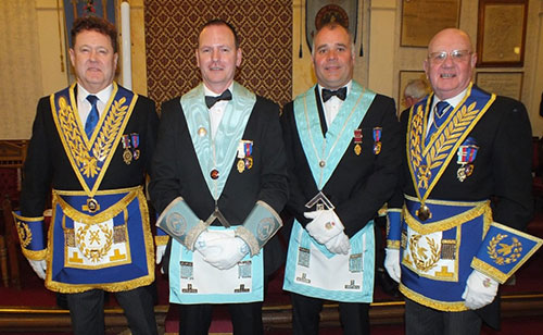 Pictured from left to right, are: Group chairman Peter Schofield, Stuart Allison, Gordon Evans and David Grainger.