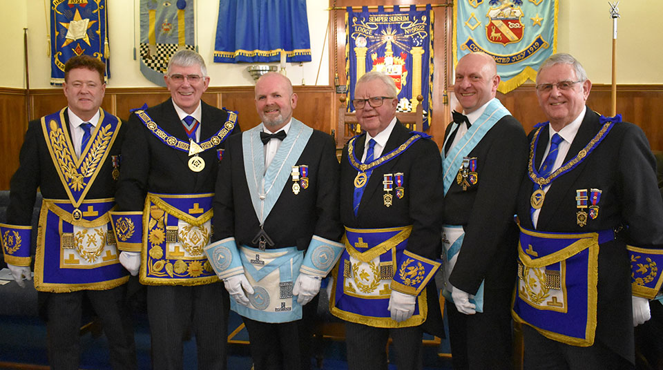 Pictured from left to right, are; Peter Schofield, Tony Harrison, Kevin Rigg, Keith Kemp, Geoff Biddulph and Stewart Seddon.