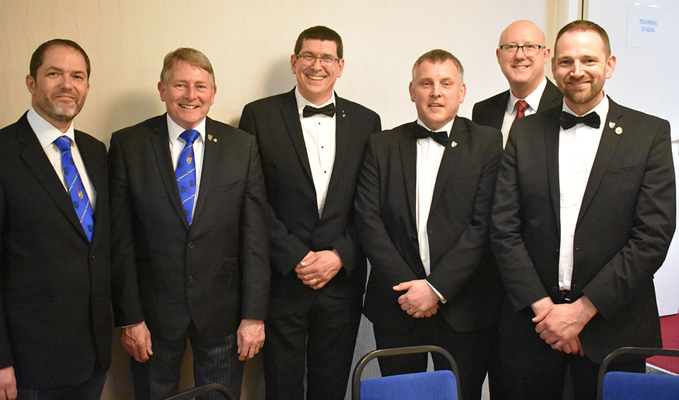 Pictured from left to right, are; Paul Mason, David Ingham, John Reed, Paul Ackred, group vice chairman Gary Rogerson and Stuart Braithwaite