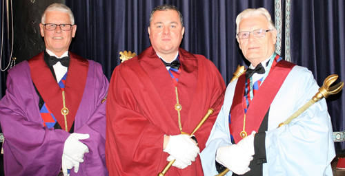 Pictured from left to right, are: Andrew Thompson, Dale Roberts and Phil Marshall