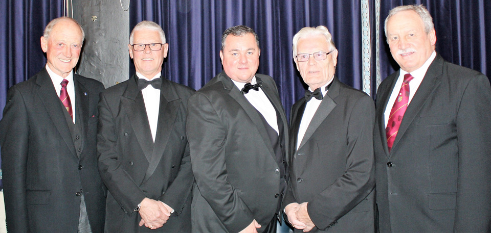 Pictured from left to right, are: Barry Jameson, Andrew Thompson, Dale Roberts, Phil Marshall and Sam Robinson