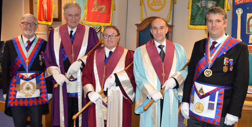 Pictured from left to right, are: John Robson, Peter Wood, Jim Stewart, David Jackson and Chris Larder.