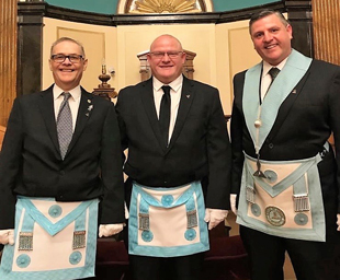 Sephton trio at Lodge of Israel