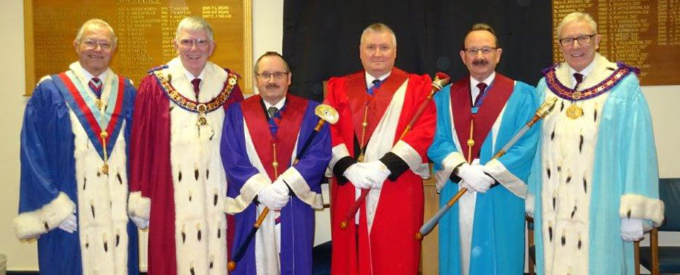 Pictured from left to right, are: Chris Band, Tony Harrison, David Wright, Mark Tomlinson, Paul Smedley and Ian Higham.
