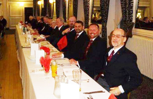 Members of the Provincial team on the top table.