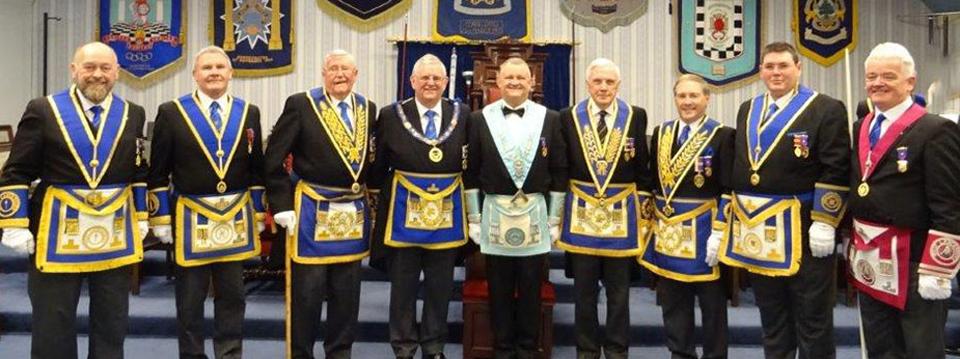 Pictured from left to right, are: Peter Maxwell, Mike Pinkard, Jim Woods, Stewart Seddon, Paul Cummings, Bob Hall, Giles Berkley, Jim Finnegan and John Riley.