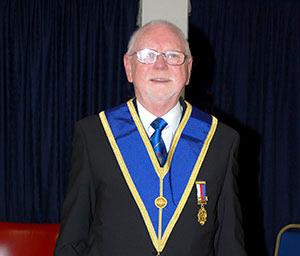 Derek Atherton, 50 years a Freemason.